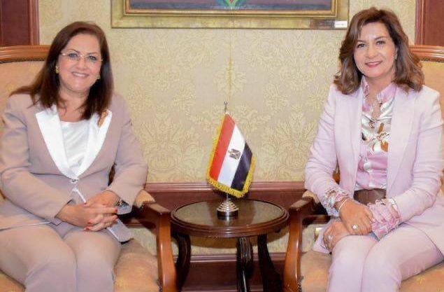 وزيرتا التخطيط والهجرة تتفقان على توفير فرص تدريب لشباب الدارسين بالخارج