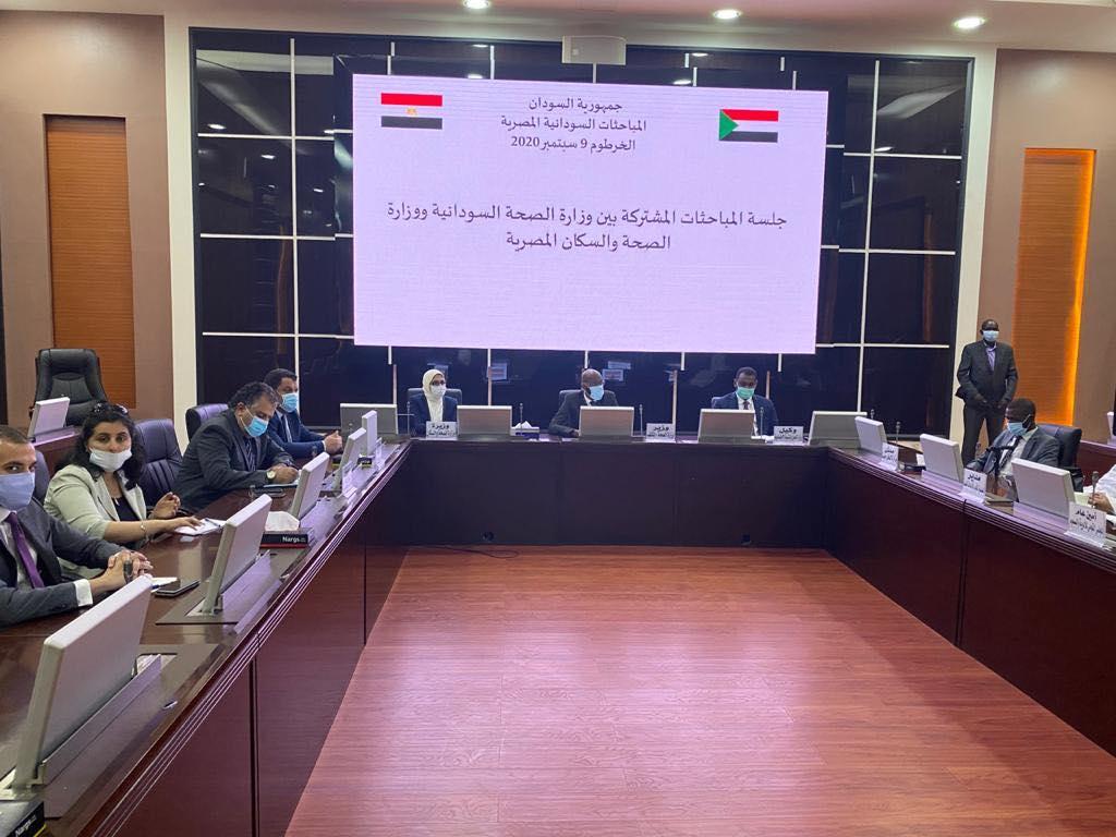 صور | بدء جلسة المباحثات المشتركة بين وزيرة الصحة ونظيرها السوداني
