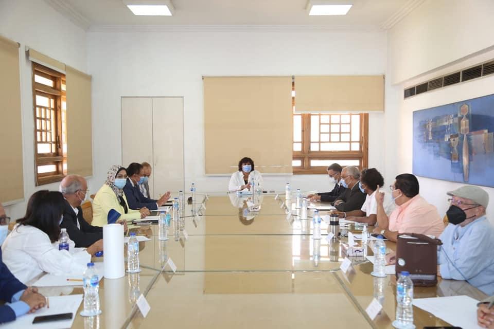 صور   وزيرة الثقافة تترأس الاجتماع التنظيمي للعليا للتراث الثقافي غير المادي