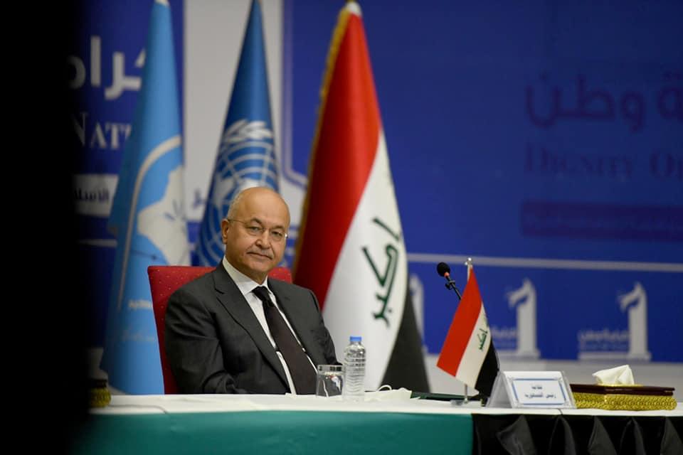 صور | الرئيس العراقى يحذر من التراخى بمحاسبة الفاسدين ويدعو لانتخابات مبكرة نزيهة