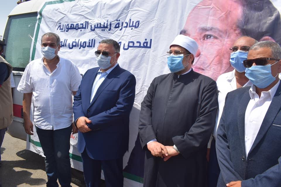 وزير الأوقاف ومحافظ البحر الأحمر يدشنان مبادرة علاج الامراض المزمنة والكشف عن الاعتلال الكلوي