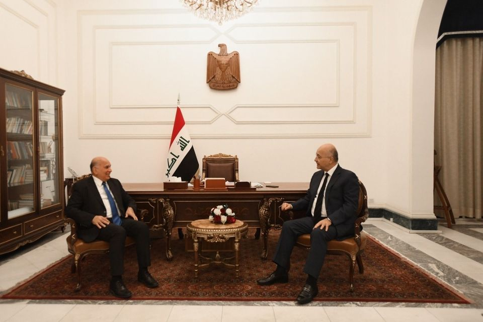 الرئيس العراقي يؤكد ضرورة منع التوترات الداخلية من التأثير على علاقات البلاد الخارجية