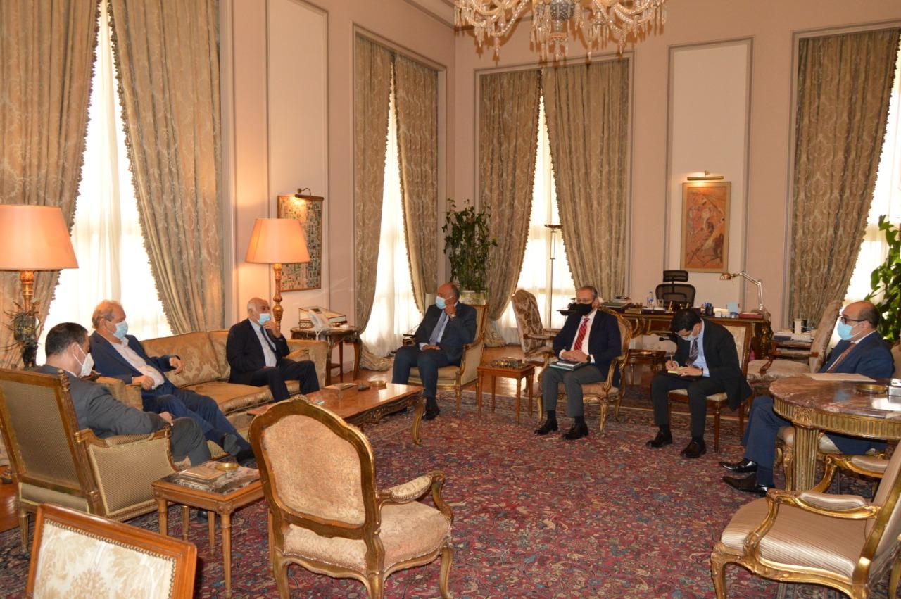 وزير الخارجية يُؤكد على موقف مصر الراسخ من القضية الفلسطينية