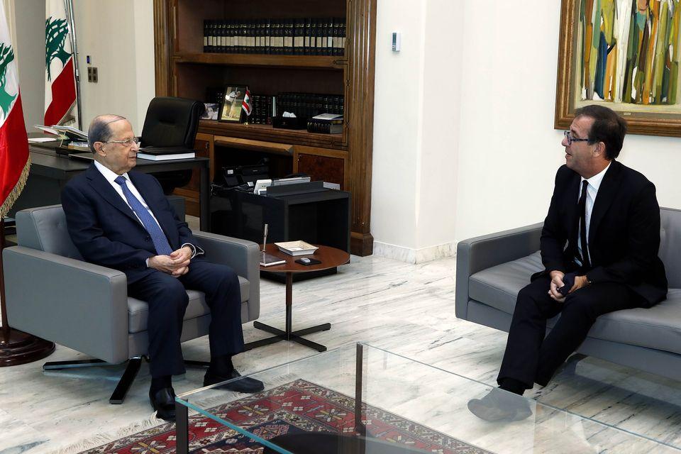 الرئيس اللبنانى يؤكد تمسكه بالمبادرة الفرنسية لدعم وإنقاذ البلاد