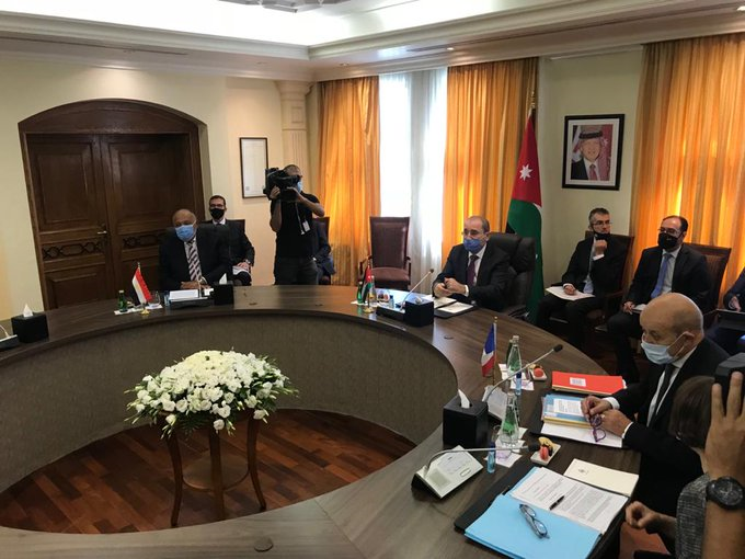 وزير الخارجية يشارك فى الاجتماع الرباعى بشأن القضية الفلسطينية بعمان