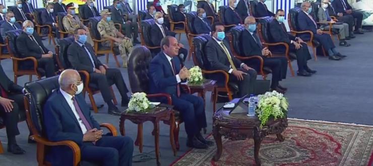 الرئيس السيسي يفتتح عددا من المنشآت التعليمية بالفيديو كونفرانس