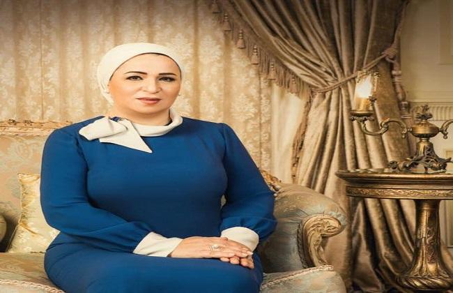 فيديو| السيدة انتصار السيسي تكشف تفاصيل ارتباطها بالرئيس