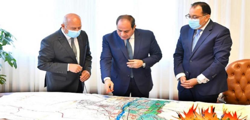 الرئيس السيسي يوجه بدعم المخصصات المالية اللازمة لمشروعات وزارة النقل
