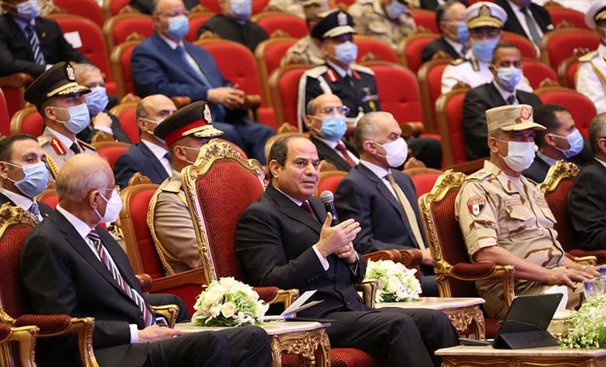 رسائل الرئيس السيسي بالندوة التثقيفية الـ32 للقوات المسلحة تستحوذ على عناوين الصحف