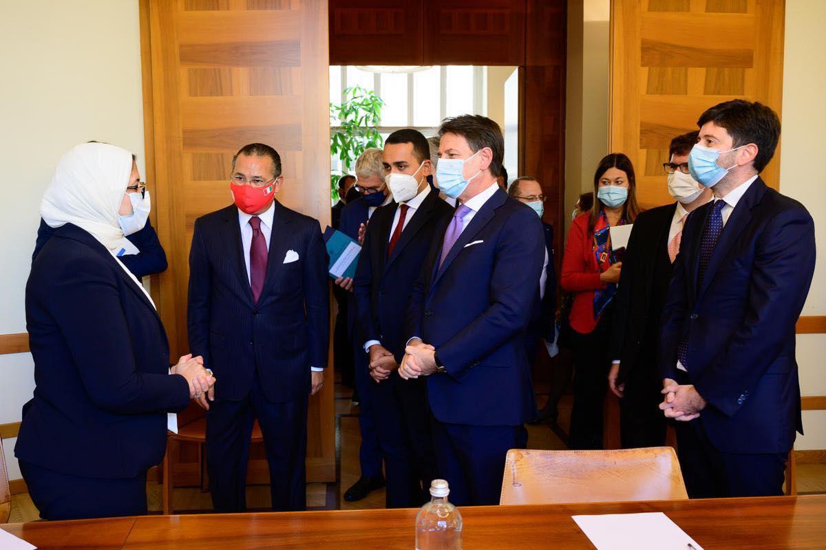 صور | وزيرة الصحة تلتقي رئيس الوزراء الإيطالي وتؤكد على عمق العلاقات بين البلدين