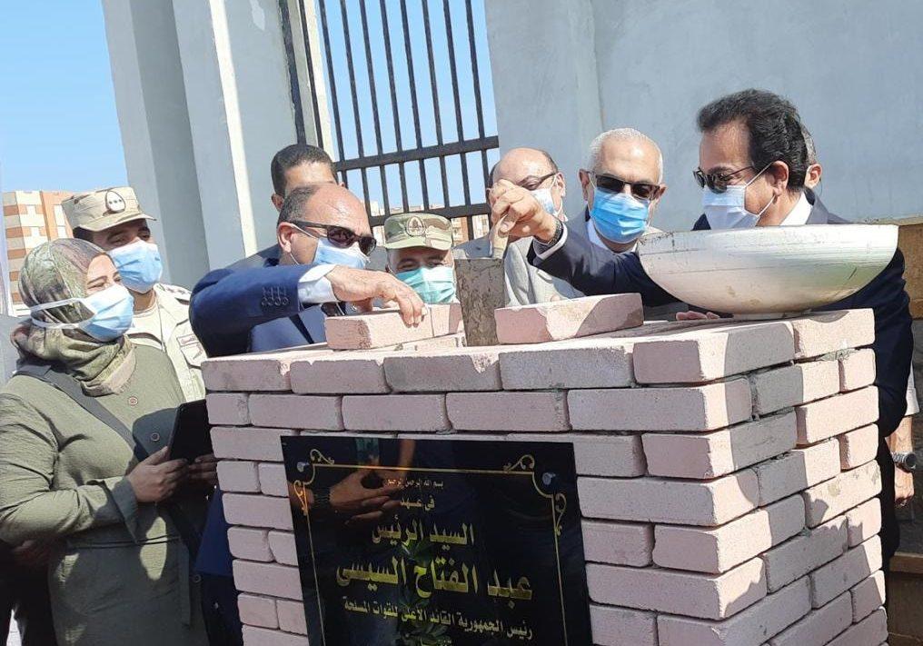 صور | وزير التعليم العالي يضع حجر الأساس لجامعة المنصورة الأهلية