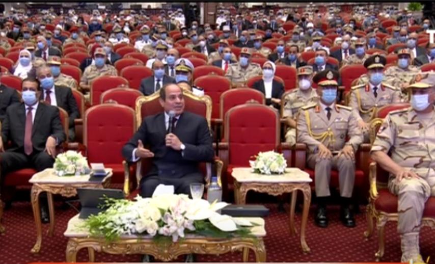 الرئيس السيسي: تكاتف الشعب ووحدته هو الضمانة الرئيسية لمواجهة التحديات