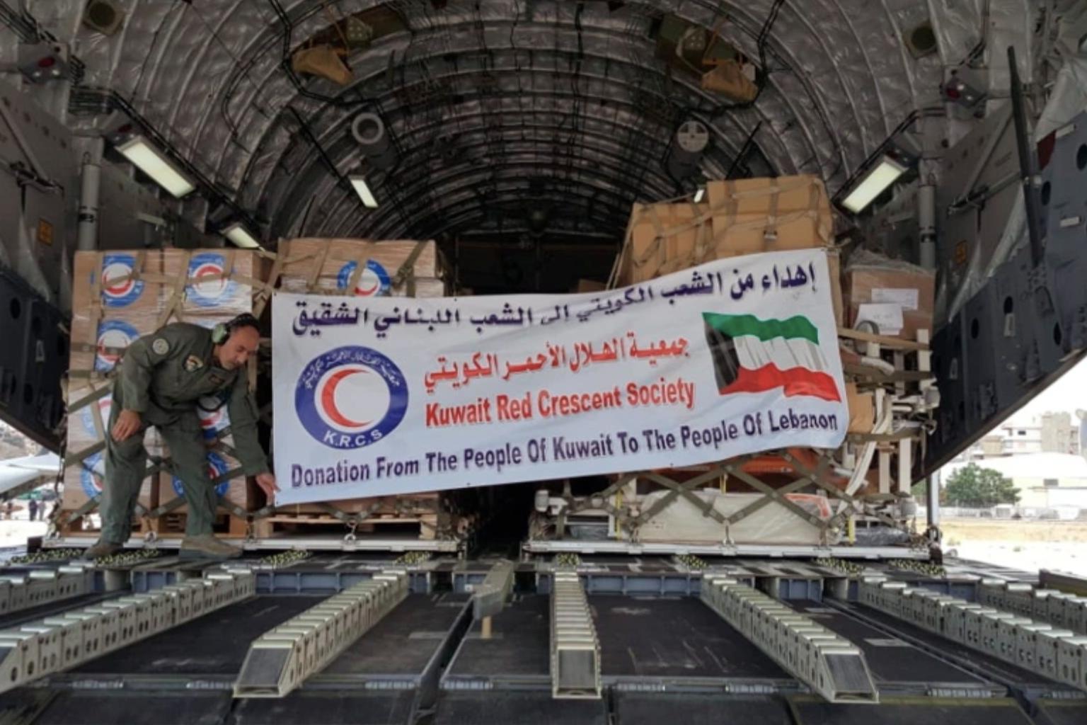 الهلال الأحمر الكويتى يعلن إقلاع طائرة الإغاثة الخامسة إلى السودان