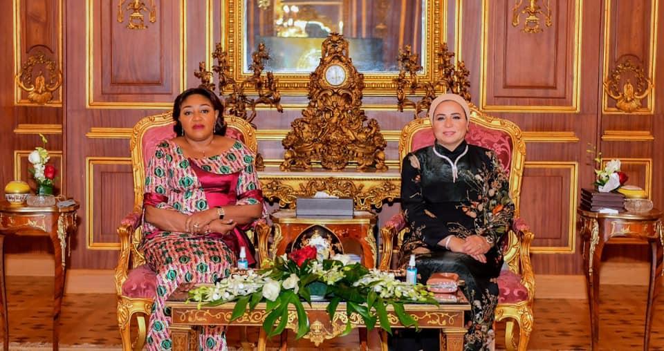 صور  قرينة الرئيس السيسي: سعدت بلقاء قرينة رئيس الكونغو خلال زيارتها لمصر