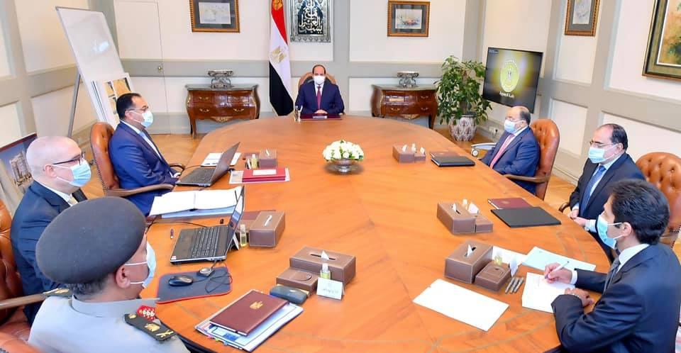 الرئيس السيسي يتابع مخطط التطوير العمراني لعواصم المحافظات وحصر الأراضي غير المستغلة