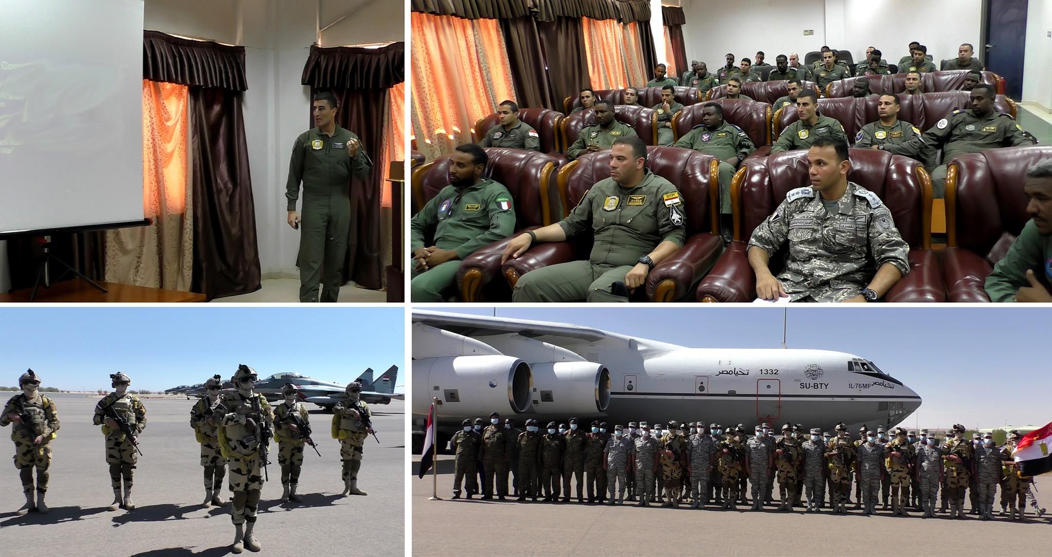 القوات المسلحة المصرية والسودانية تنفذان التدريب الجوي «نسور النيل 1»