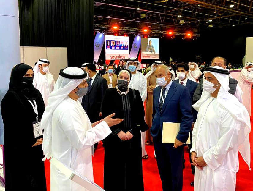 صور | وزيرة التجارة تشارك فى مؤتمر تكنولوجيات الاقتصاد الرقمي بدبي
