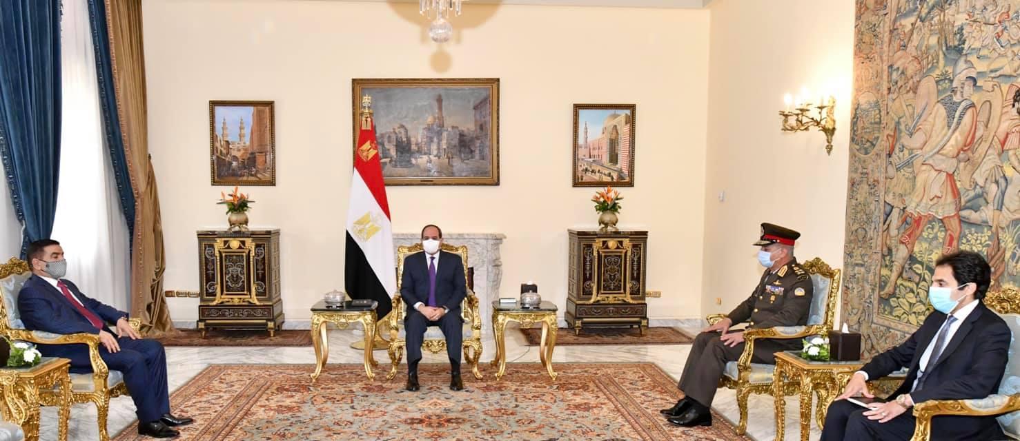 الرئيس السيسي يستقبل وزير الدفاع العراقي.. ويؤكد دعم مصر الكامل للبلد الشقيق
