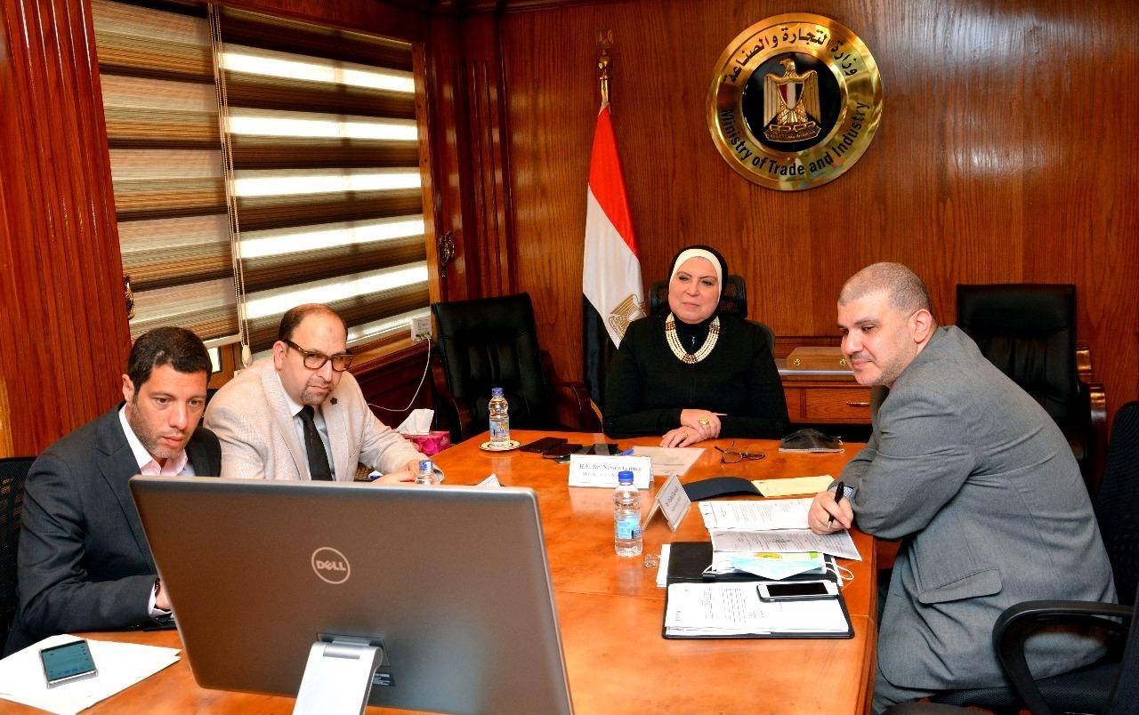 صور | وزيرة الصناعة تستعرض مع ممثلي البنك الدولي الإصلاحات الهيكلية في الاقتصاد المصري