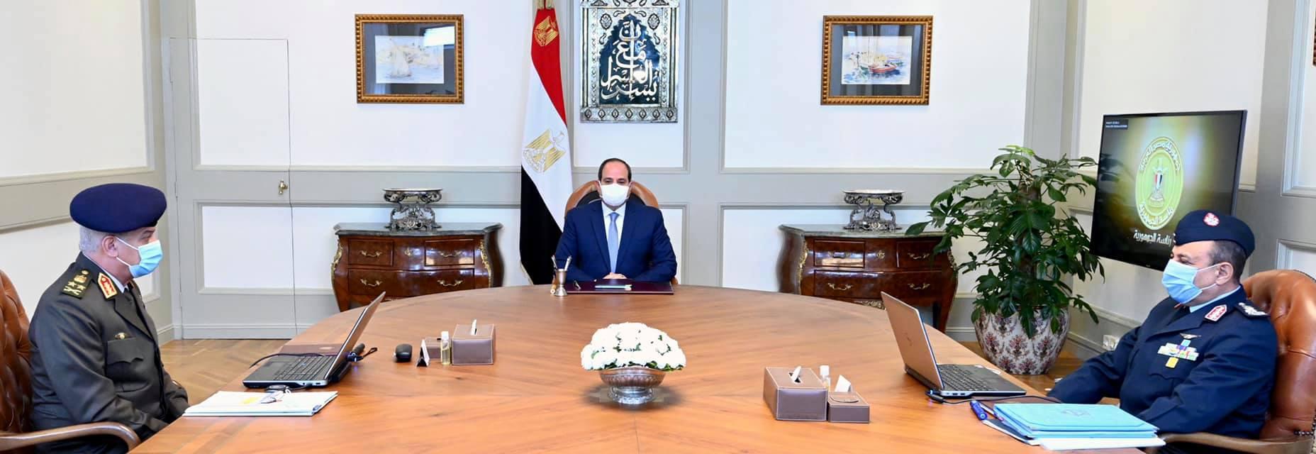 الرئيس السيسي يوجه بالحفاظ على أعلى درجات الجاهزية لحماية أمن مصر القومي