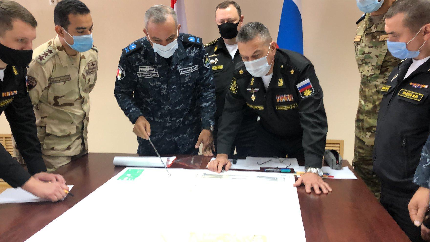 """ختام فعاليات التدريب البحرى المصرى الروسى المشترك """" جسر الصداقة – 3 """""""