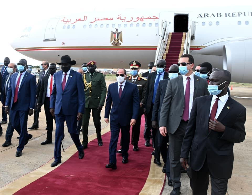 الرئيس السيسي يصل إلى جنوب السودان