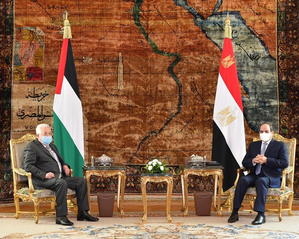 صور | الرئيس السيسي يستقبل نظيره الفلسطينى فى قصر الاتحادية