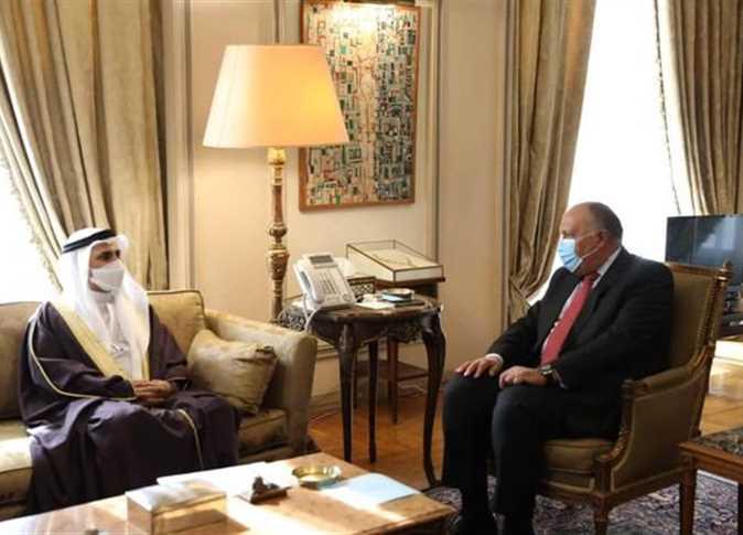 وزير الخارجية يناقش مع رئيس البرلمان العربي المستجدات والتحديات على الساحتين