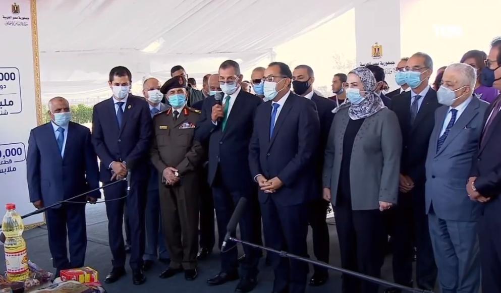 فيديو وصور  | رئيس الوزراء يشهد إطلاق أكبر قافلة إنسانية لرعاية مليون مواطن استعدادا للشتاء
