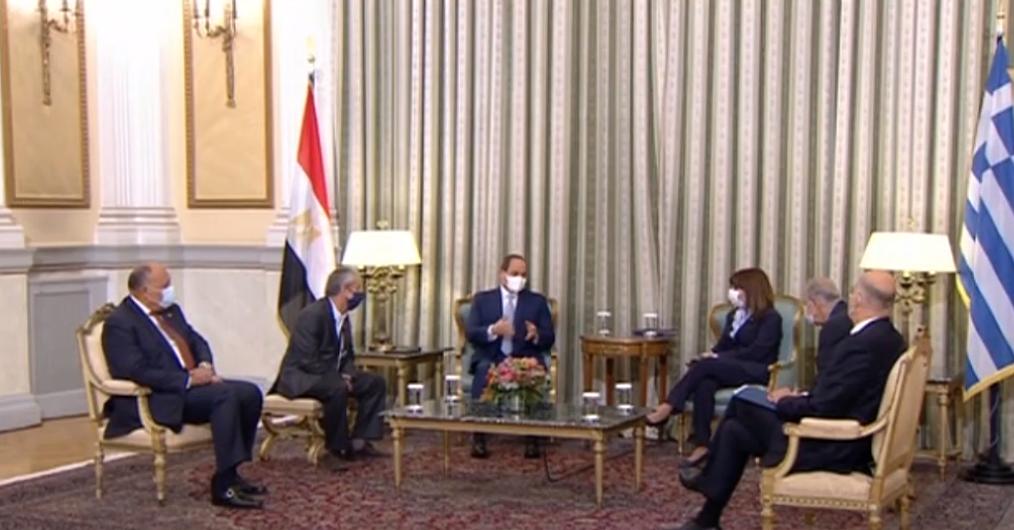 الرئيس السيسي : نقف بجانب اليونان ضد أى عمليات استفزازية بشرق المتوسط