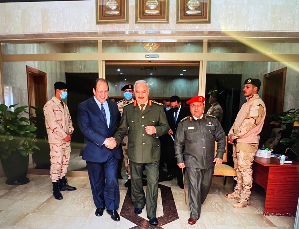 صور| رئيس المخابرات العامة يزور بنغازي ويلتقي حفتر والمستشار عقيلة صالح