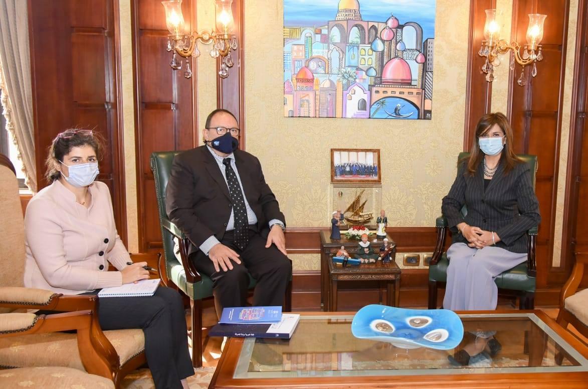 صور | وزيرة الهجرة تستقبل مدير مكتب اليونيسكو بالقاهرة لبحث مبادرة «اتكلم عربي»