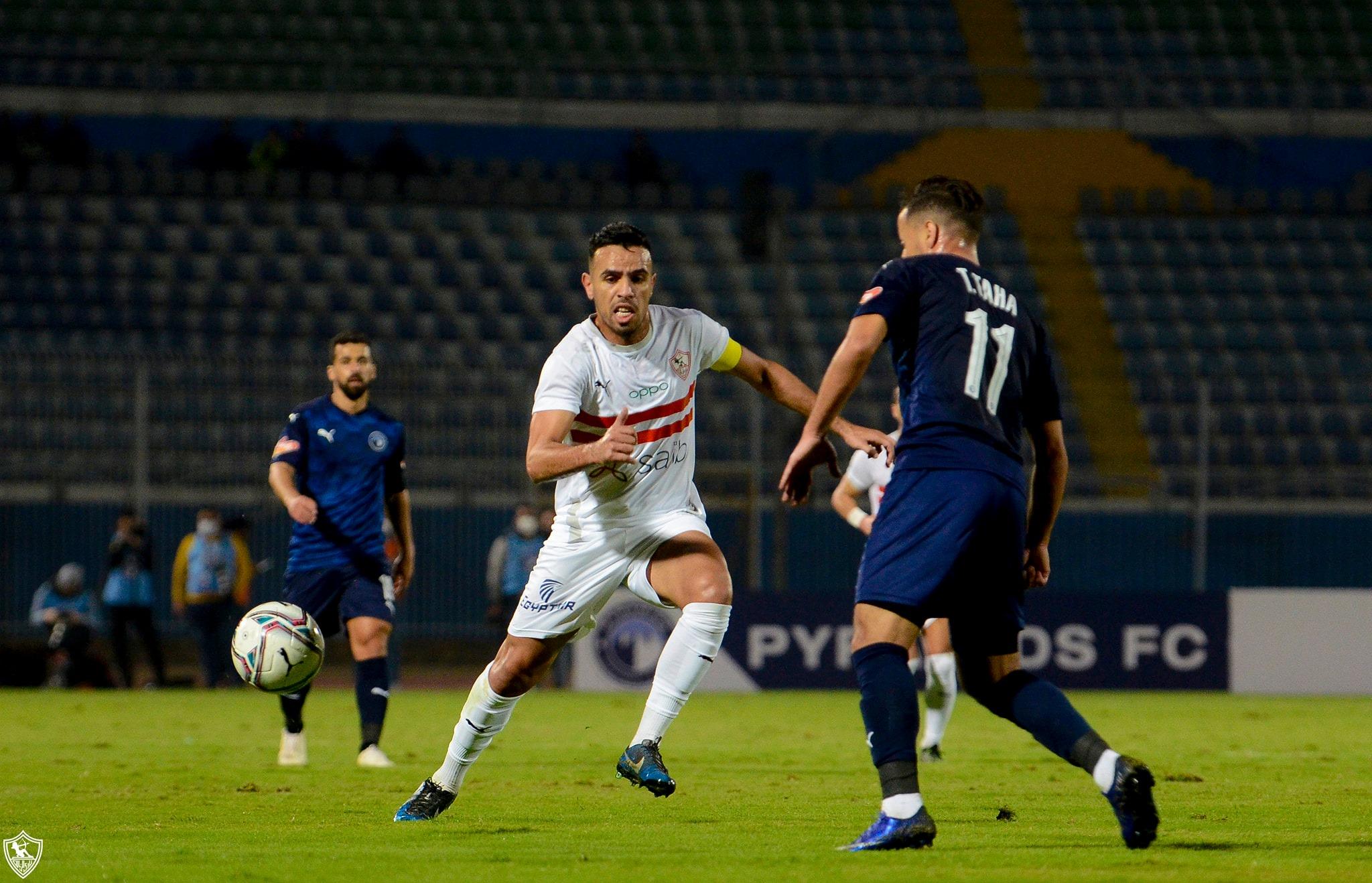 صور | التعادل الايجابي يحسم مواجهة الزمالك وبيراميدز في الدوري المصري