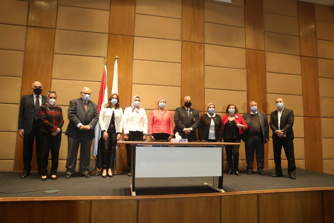 صور | وزيرة البيئة تشهد مراسم توقيع بروتوكول تعاون مشترك مع نادي روتاري