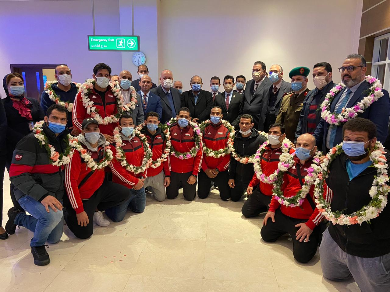 صور | وزير الرياضة يستقبل المنتخب المصري للجودو بمطار القاهرة