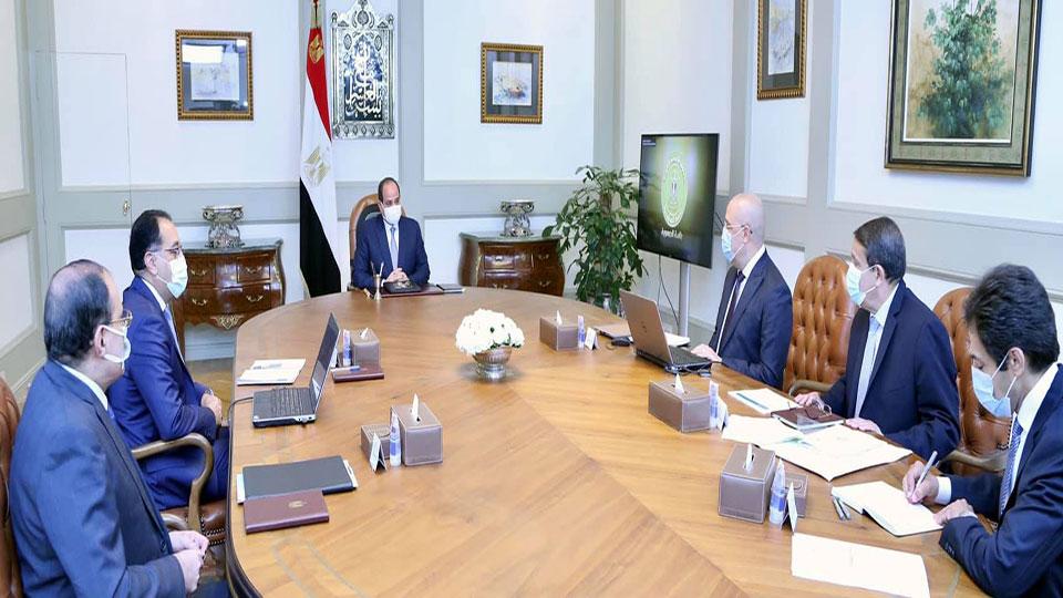 الرئيس السيسي يتابع الموقف التنفيذي للأعمال الإنشائية للعاصمة الإدارية