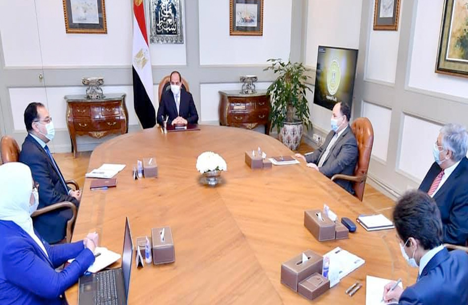 السيسي يوجه بقيام صندوق تحيا مصر بدعم توفير لقاح كورونا للفئات المستحقة ذات الأولوية المتقدمة