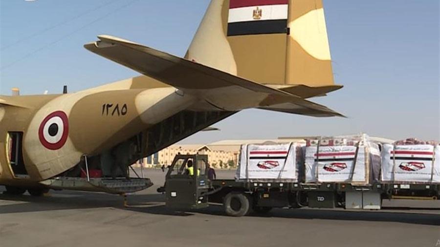 الشعب اللبناني يعلق على المساعدات المصرية بـ «شكرا مصر»