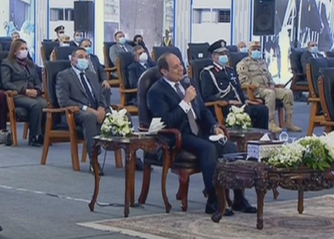 """الرئيس السيسي يفتتح عبر الفيديو كونفرانس مشروع """"مثلث الديبة"""" للاستزراع السمكى"""