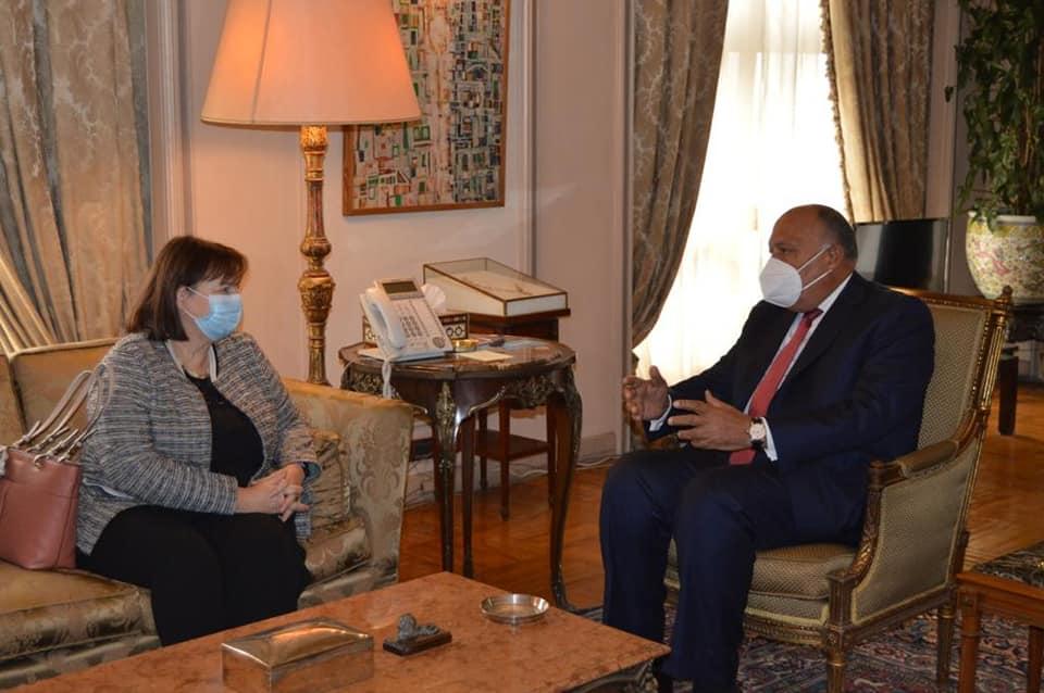 صور | وزير الخارجية يستقبل الممثلة الخاصة للاتحاد الأوروبي لعملية السلام بالشرق الأوسط