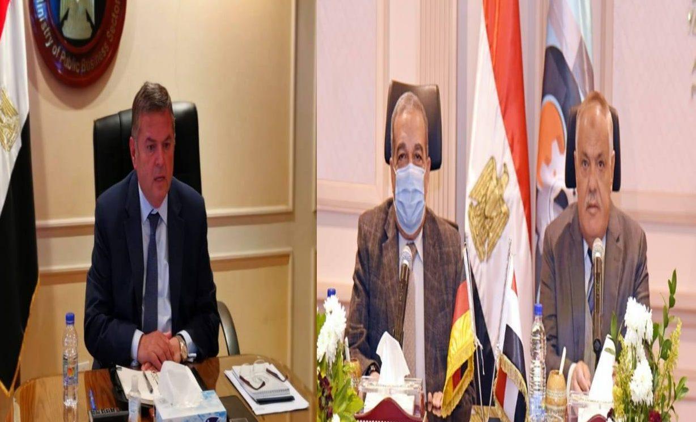 وزيرا قطاع الأعمال والإنتاج الحربي ورئيس العربية للتصنيع يناقشون إنشاء مصنع إنتاج إطارات المركبات