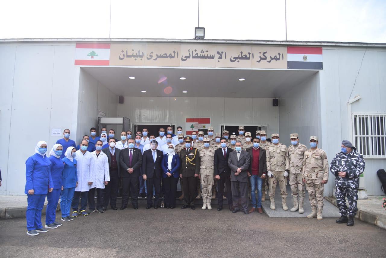 صور | وزيرة الصحة تزور المركز الطبي المصري في لبنان بعد عام على تشغيله