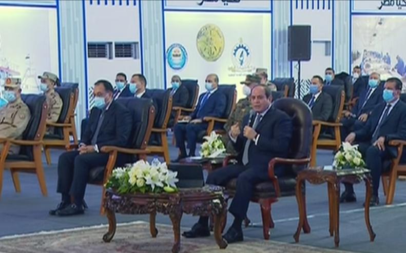 الرئيس السيسي يفتتح مصنع رخام برأس سدر والعين السخنةعبر الفيديو كونفرانس