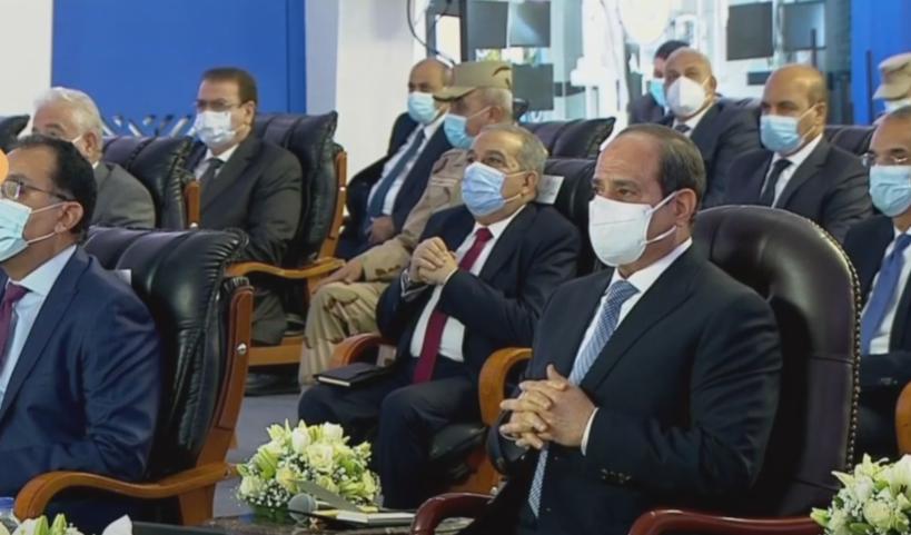 """الرئيس السيسى يفتتح 4 مستشفيات ومجمع أمصال عبر """"فيديو كونفرانس"""" من الإسماعيلية"""