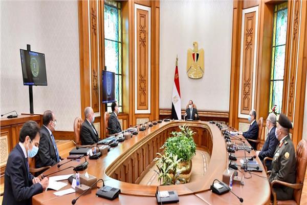 السيسي يتابع الموقف التنفيذي للمشروع القومي لتنمية وسط وشمال سيناء