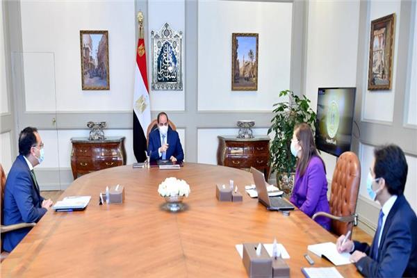 الرئيس السيسي يوجه باستمرار دراسة تداعيات جائحة كورونا على الأداء الاقتصادي محلياً وعالمياً