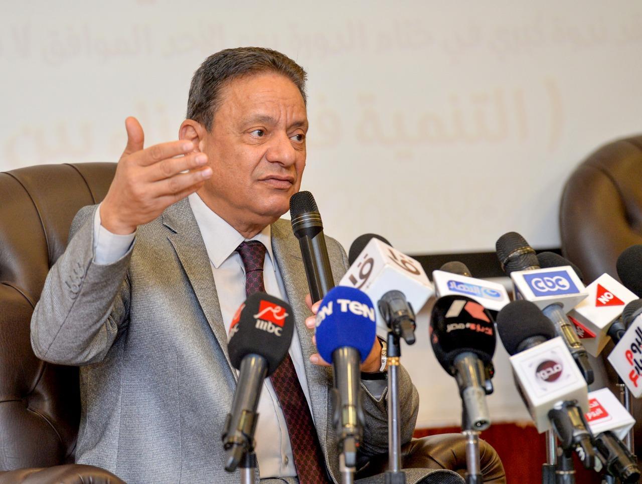 صور| جبر: مصر تقف على أرض صلبة وعلينا الاصطفاف حول القيادة السياسية