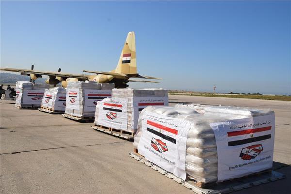 صور| القوات المسلحة المصرية ترسل مساعدات طبية للجيش اللبناني