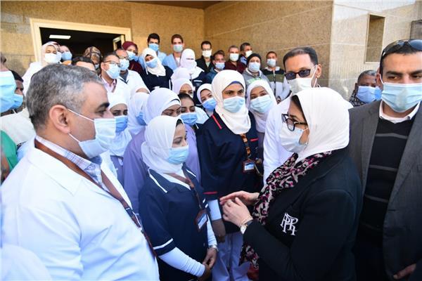 وزيرة الصحة والسكان تتفقد أول مستشفى للنساء والولادة لخدمة أهالي جنوب الصعيد