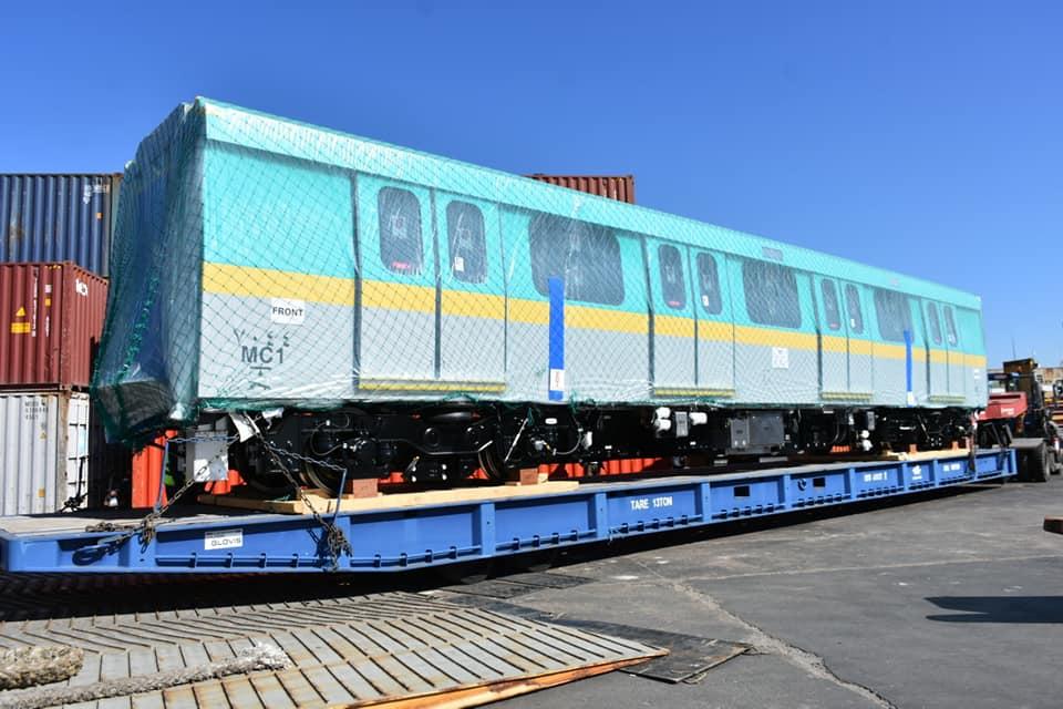 صور | وزير النقل يعلن وصول سادس قطار أنفاق مكيف جديد للخط الثالث للمترو